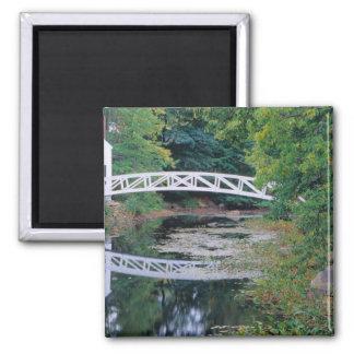 NA, USA, Maine.  Bridge over pond in Somesville. Magnet
