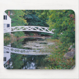 NA, USA, Maine.  Bridge over pond in Somesville. Mouse Pad