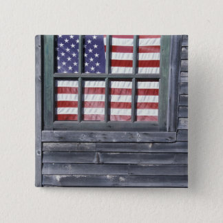 NA, USA, Maine, Georgetown Island. Flag of the Button