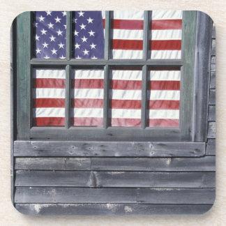 NA, USA, Maine, Georgetown Island. Flag of the Coaster