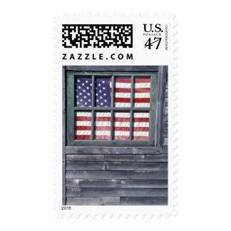 NA, USA, Maine, Georgetown Island. Flag of the Postage