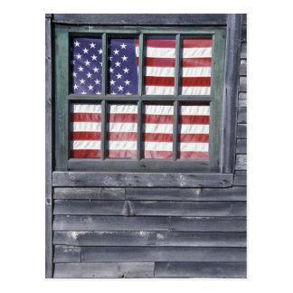 NA, USA, Maine, Georgetown Island. Flag of the Postcard