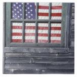 NA, USA, Maine, Georgetown Island. Flag of the Tile