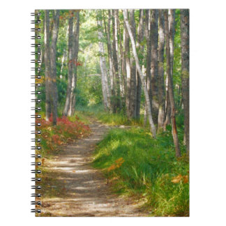 NA, USA, Maine.  Jessup trail in Acadia National Spiral Notebook