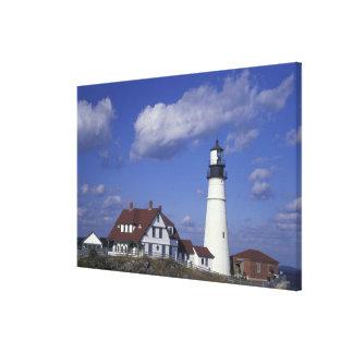 NA, USA, Maine, near Portland, Portland Head Canvas Print