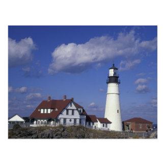 NA, USA, Maine, near Portland, Portland Head Postcard