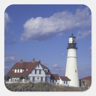 NA, USA, Maine, near Portland, Portland Head Square Sticker