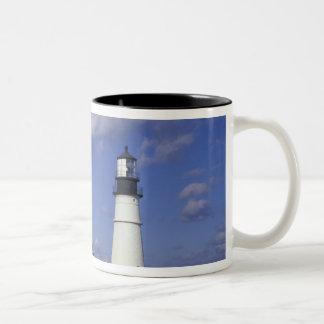 NA, USA, Maine, near Portland, Portland Head Two-Tone Coffee Mug