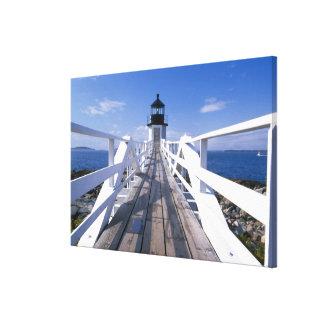 NA, USA, Maine, Port Clyde.  Marshall Point 2 Canvas Print