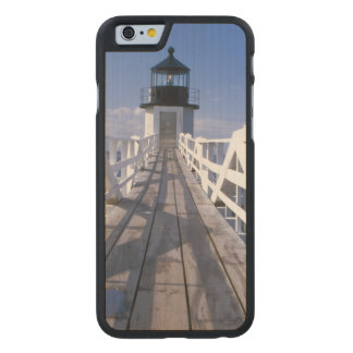 NA, USA, Maine, Port Clyde.  Marshall Point 2 Carved Maple iPhone 6 Slim Case