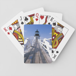 NA, USA, Maine, Port Clyde.  Marshall Point 2 Playing Cards