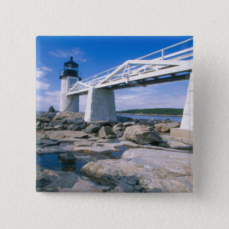 NA, USA, Maine, Port Clyde.  Marshall Point Pinback Button