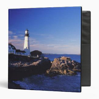 NA, USA, Maine. Portland Head lighthouse. 3 Ring Binder