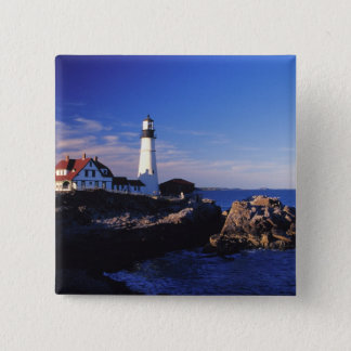 NA, USA, Maine. Portland Head lighthouse. Button