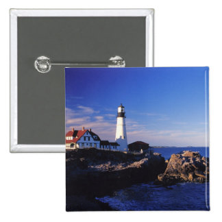 NA, USA, Maine. Portland Head lighthouse. Button