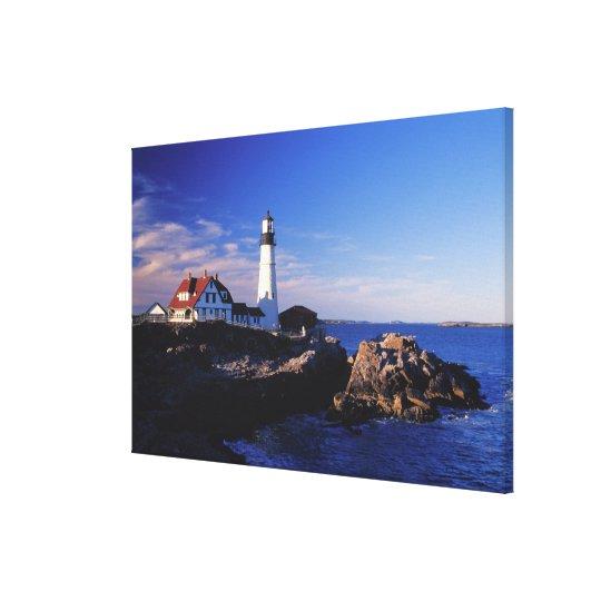 NA, USA, Maine. Portland Head lighthouse. Canvas Print
