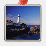 NA, USA, Maine. Portland Head lighthouse. Christmas Tree Ornament