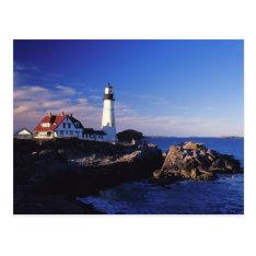 Na, Usa, Maine. Portland Head Lighthouse. Postcard at Zazzle