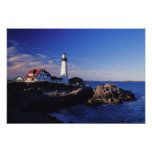 NA, USA, Maine. Portland Head lighthouse. Poster