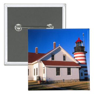 NA, USA, Maine.  West Quoddy lighthouse near Button