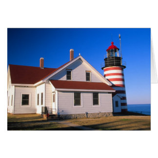 NA, USA, Maine.  West Quoddy lighthouse near Card