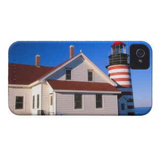 NA, USA, Maine.  West Quoddy lighthouse near Case-Mate iPhone 4 Cases