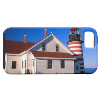 NA, USA, Maine.  West Quoddy lighthouse near iPhone 5 Cases
