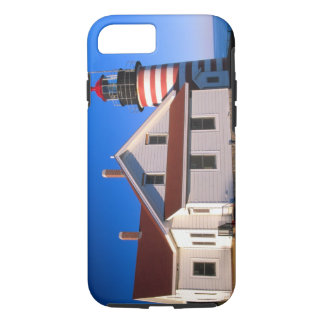 NA, USA, Maine.  West Quoddy lighthouse near iPhone 7 Case