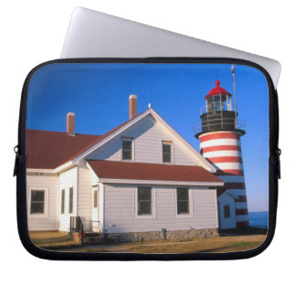 NA, USA, Maine.  West Quoddy lighthouse near Laptop Sleeve