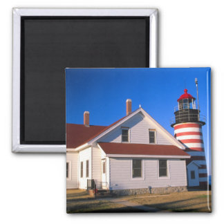 NA, USA, Maine.  West Quoddy lighthouse near Magnet