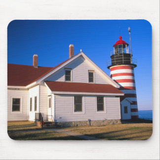 NA, USA, Maine.  West Quoddy lighthouse near Mouse Pad
