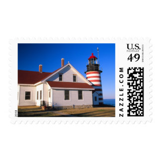 NA, USA, Maine.  West Quoddy lighthouse near Postage Stamp