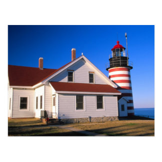 NA, USA, Maine.  West Quoddy lighthouse near Postcard