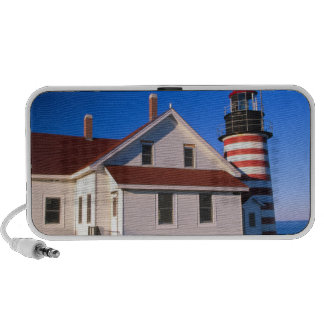 NA, USA, Maine.  West Quoddy lighthouse near iPod Speakers