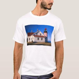 NA, USA, Maine.  West Quoddy lighthouse near T-Shirt