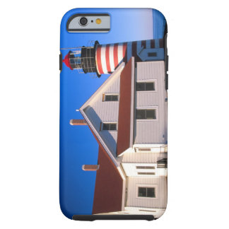 NA, USA, Maine.  West Quoddy lighthouse near Tough iPhone 6 Case