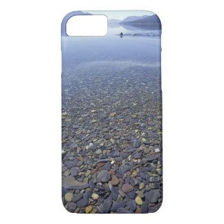 NA, USA, Montana, Glacier NP Rocks in Lake iPhone 7 Case
