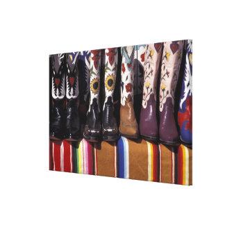 NA, USA, New Mexico, Santa Fe. Cowboy boots Canvas Print