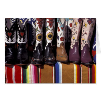 NA, USA, New Mexico, Santa Fe. Cowboy boots Card