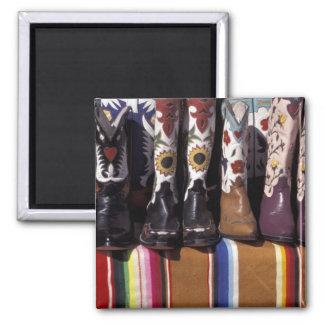 NA USA New Mexico Santa Fe Cowboy boots Refrigerator Magnets