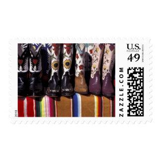 NA, USA, New Mexico, Santa Fe. Cowboy boots Postage Stamp