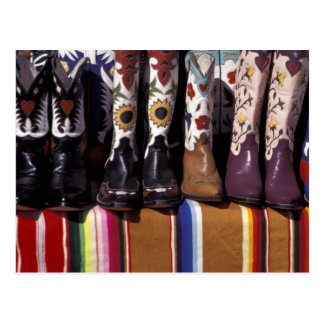 NA, USA, New Mexico, Santa Fe. Cowboy boots Postcard