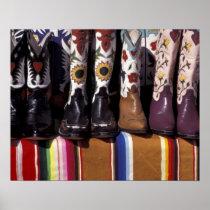 NA, USA, New Mexico, Santa Fe. Cowboy boots Poster
