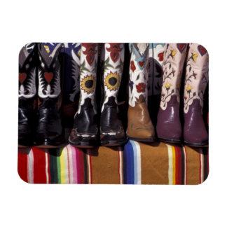 NA USA New Mexico Santa Fe Cowboy boots Rectangle Magnet