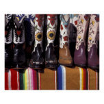 NA, USA, New Mexico, Santa Fe. Cowboy boots Print