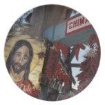 NA, USA, New Mexico, Santa Fe. Plates