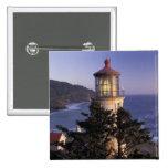 NA, USA, Oregon, Heceta Head Lighthouse, 2 Inch Square Button