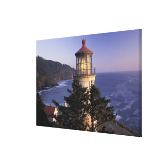 NA, USA, Oregon, Heceta Head Lighthouse, Canvas Print