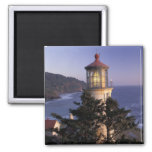 NA, USA, Oregon, Heceta Head Lighthouse, 2 Inch Square Magnet