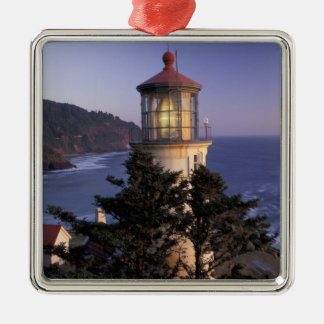 NA, USA, Oregon, Heceta Head Lighthouse, Metal Ornament